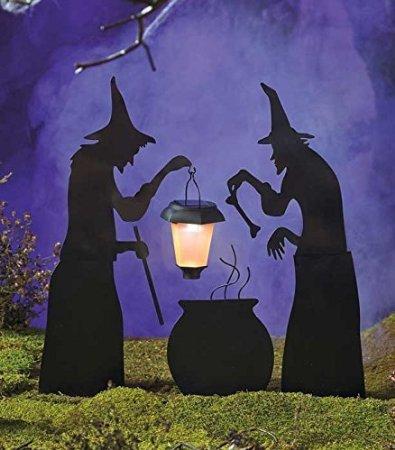 witch lantern silhouette halloween decoration