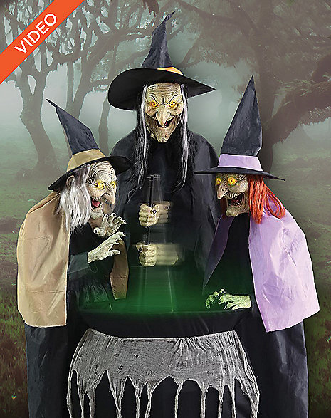 witch sister trio halloween decoration