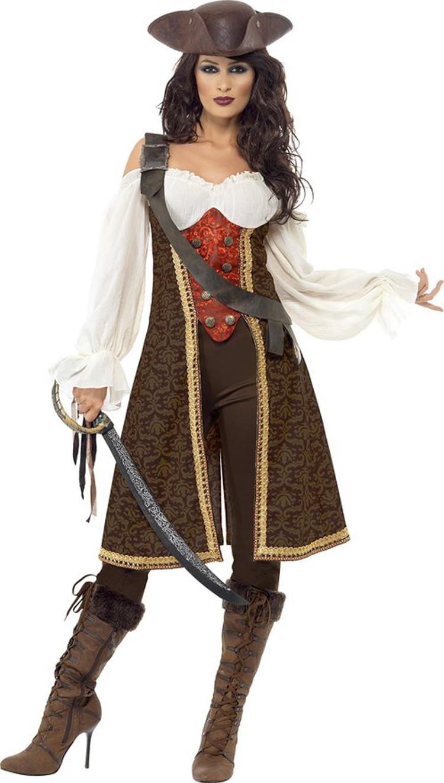 women high seas pirate wench halloween costume