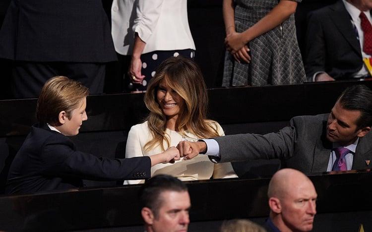 Barron and Donald Trump Jr