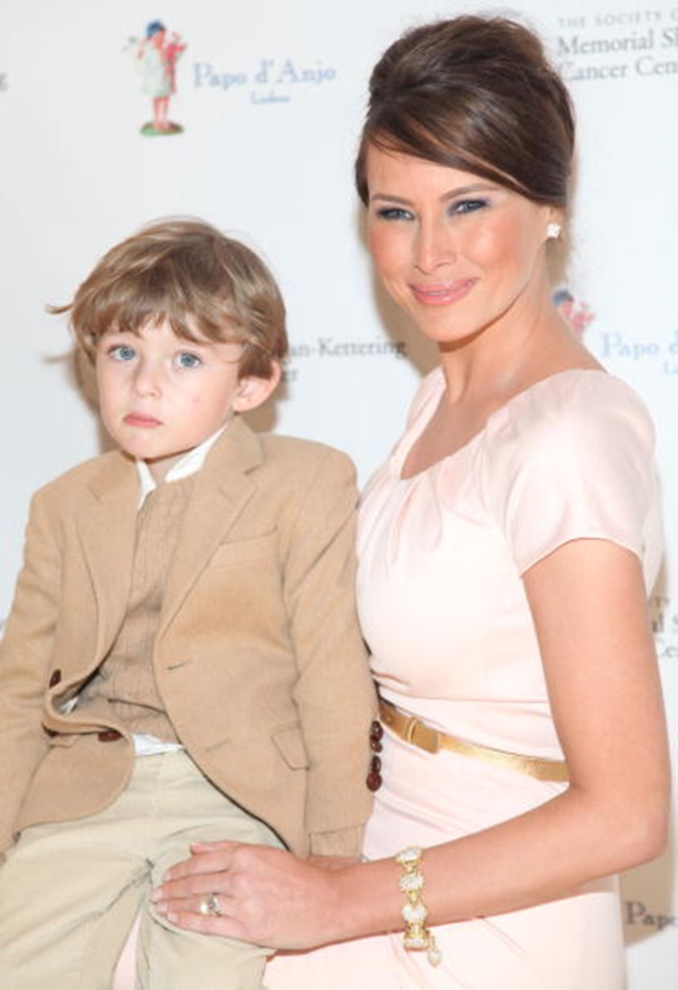 Barron attended the Bunny Hop event
