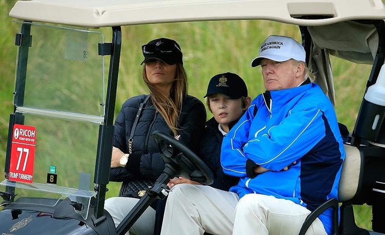 Barron shares Donald Trumo love for Golf