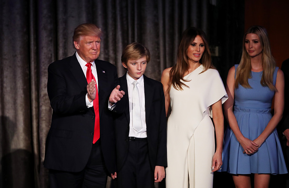 Donald, Barron, Melania & Ivanka Trump