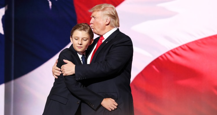 Donald Trump and son Barron