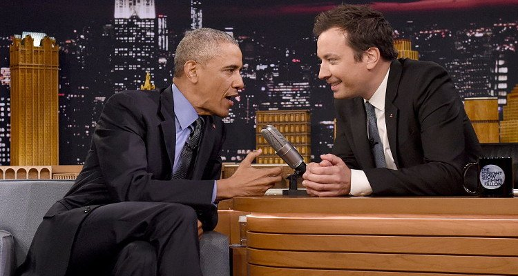 Jimmy Fallon and Barack Obama