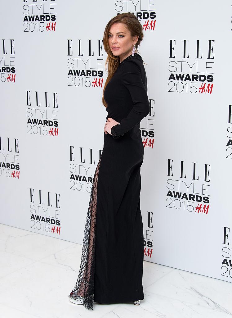 Lindsay Lohan near naked