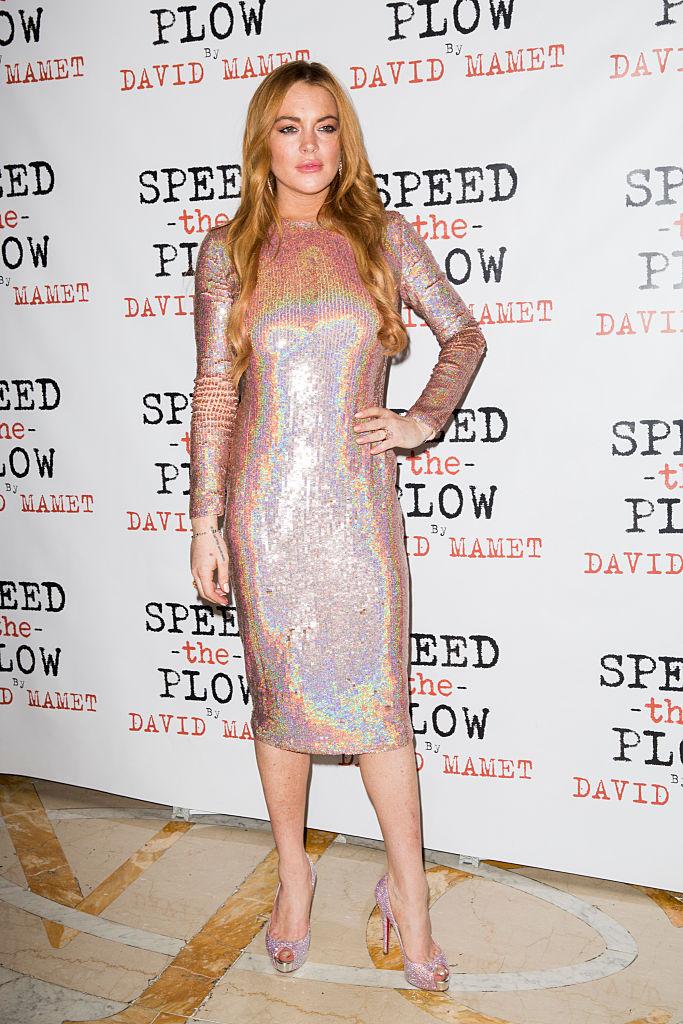 Lindsay Lohan near nude