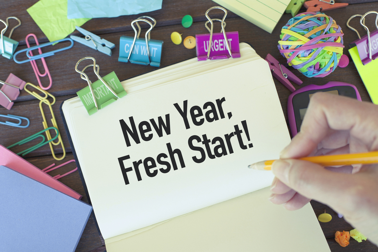 New year, fresh start, new beginnings concept.