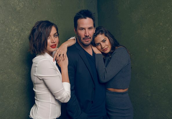 Ana de Armas, Keanu Reeves and Lorenza Izzo