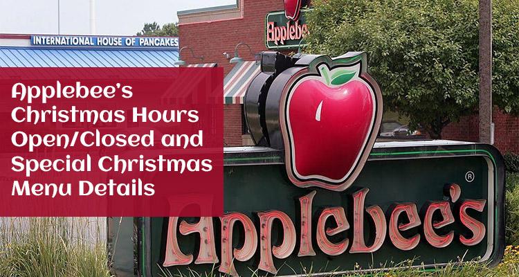 applebees christmas hours