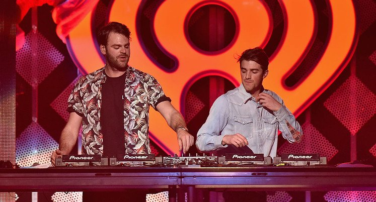 Chainsmokers Live in Action at the iHeartRadio