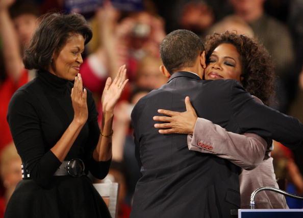 Michelle Obama, Barack Obama & Oprah Winfrey