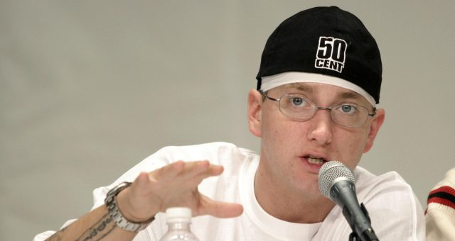 Rap artist Eminem speaks about his financial past and present at the 1st Financial Hip Hop Summit