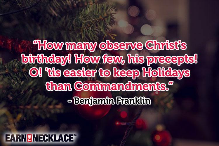 Religious Christmas Quotes Glamorous Religious Christmas Quotes For A Merry Christmas  Earn The Necklace