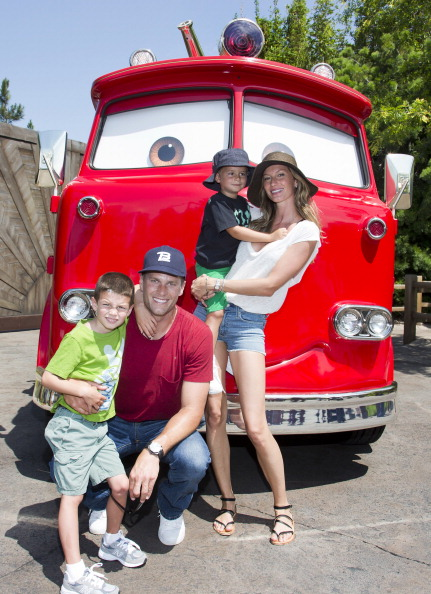Tom Brady, Gisele Bundchen And Family Visit Cars Land At Disney California Adventure Park