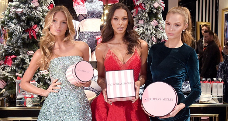 Victoria's Secret Angels Josephine Skriver, Lais Ribeiro, Romee Strijd Celebrate The Victoria's Secret Fashion Show At The New 5th Avenue Store