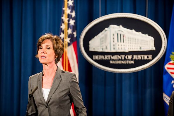 Ex-Acting Attorney General sally yates