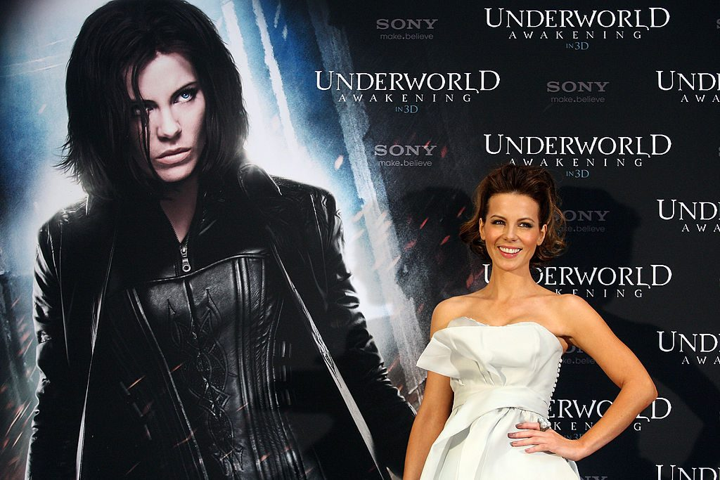 BERLIN, GERMANY - JANUARY 26: Actress Kate Beckinsale poses at a photo call for her film 'Underworld Awakening' on January 26, 2012 in Berlin, Germany. The 3-D film, in which Beckinsale returns as the vampire warrioress Selene, comes to German cinemas on February 2, 2012. (Photo by Adam Berry/Getty Images)