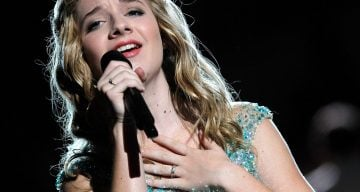 WASHINGTON, DC - MAY 25:  Jackie Evancho performs at the 25th National Memorial Day Concert at U.S. Capitol, West Lawn on May 25, 2014 in Washington, DC.  (Photo by Paul Morigi/Getty Images for Capitol Concerts)
