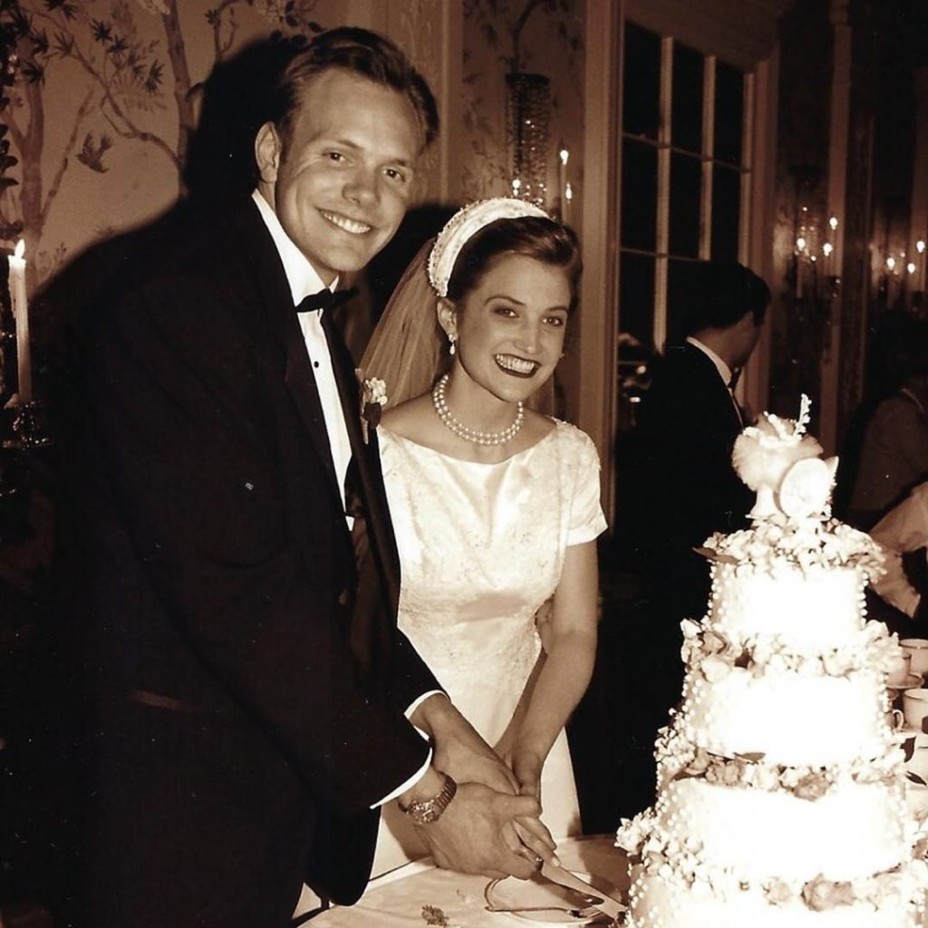 Joel McHale and Sarah Williams on their marriage day