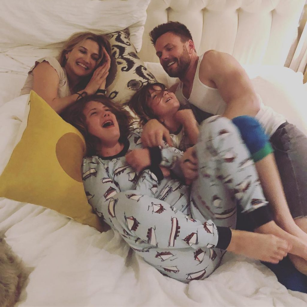 Joel McHale and Sarah Williams with their kids, Isaac Hayden and Edward Roy
