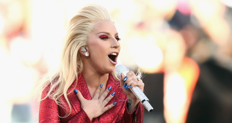 Lady Gaga Performs the National Anthem at Superbowl 50