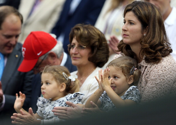 Mirka Federer and daughters, Myla Rose and Charlene Riva