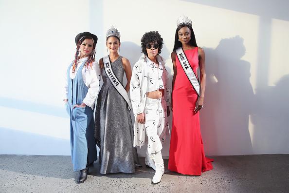 Miss Universe 2016, Pia Wurtzbach & Miss USA 2016, Deshauna Barber at MADE Fashion Week 2016