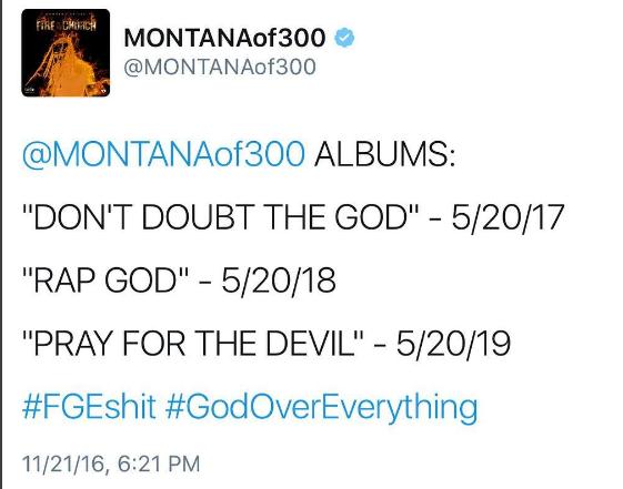 Montana of 300 Tweet