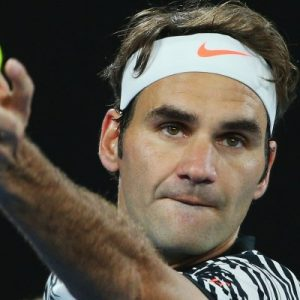 Roger Federer at the 2017 Australian Open
