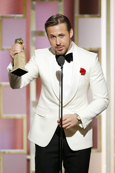 Ryan Gosling at the 74th Annual Golden Globe Awards