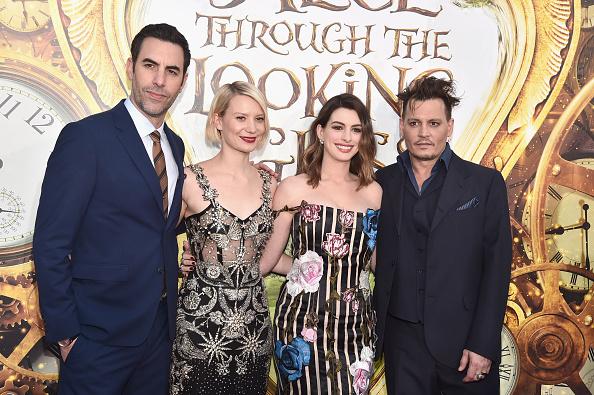 Sacha Baron Cohen, Mia Wasikowska, Anne Hathaway and Johnny Depp