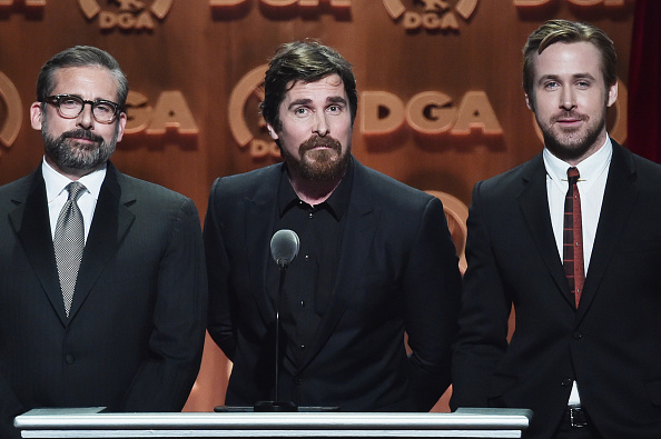 Steve Carell, Christian Bale and Ryan Gosling