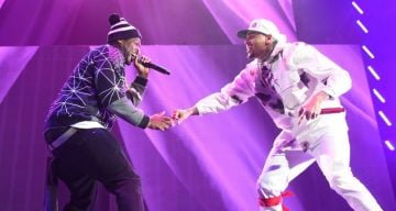 "50 Cent & Chris Brown at the ""Between The Sheets"" Tour"