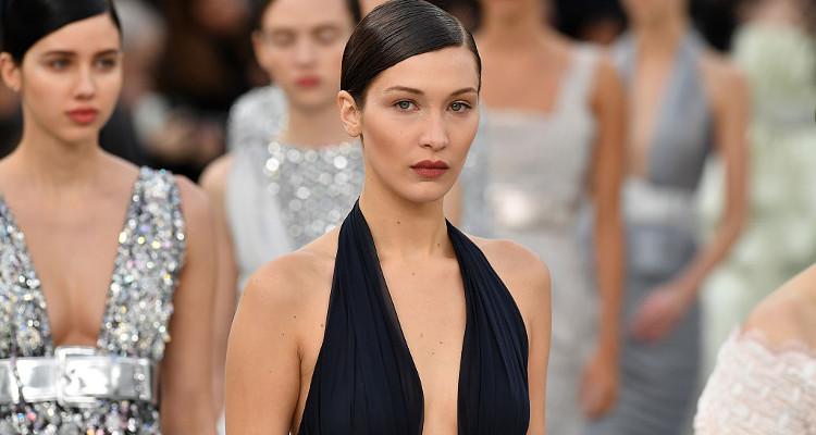 Bella Hadid Sashays Down Runway for French Fashion Label