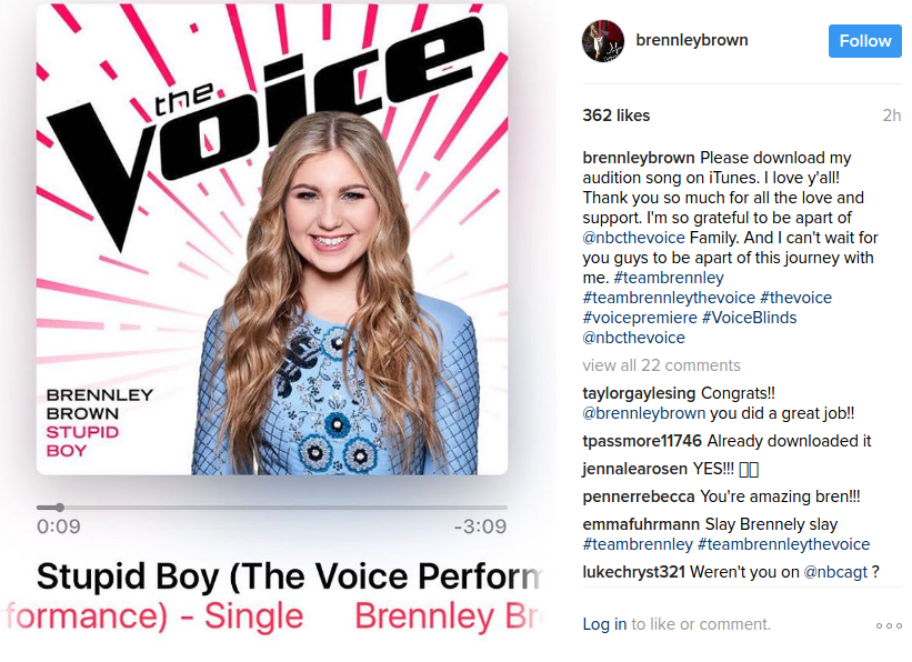 Brennley Brown The Voice
