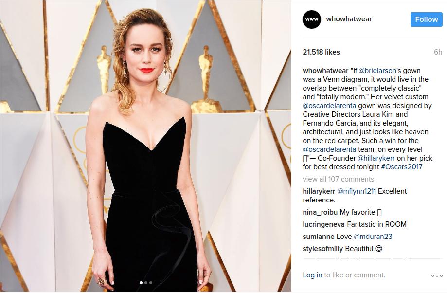 Brie Larson Oscars 2017
