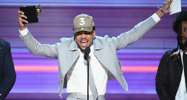 Chance the Rapper at the 59th Annual Grammy Awards