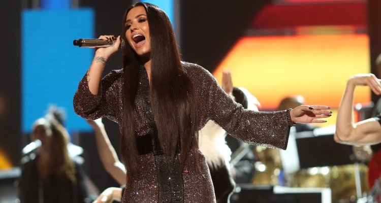 Demi Lovato at the 59th Grammy Awards