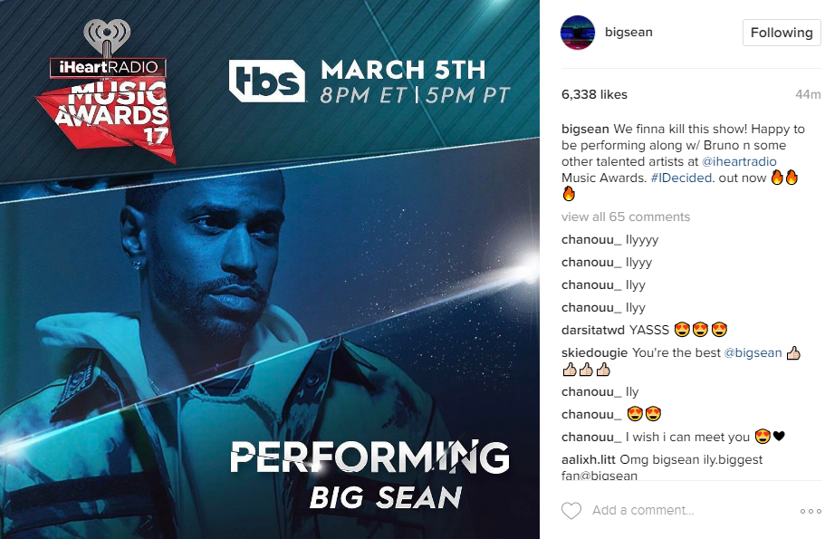 Instagram Big Sean