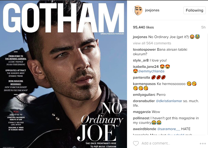 Instagram/ Joe Jonas