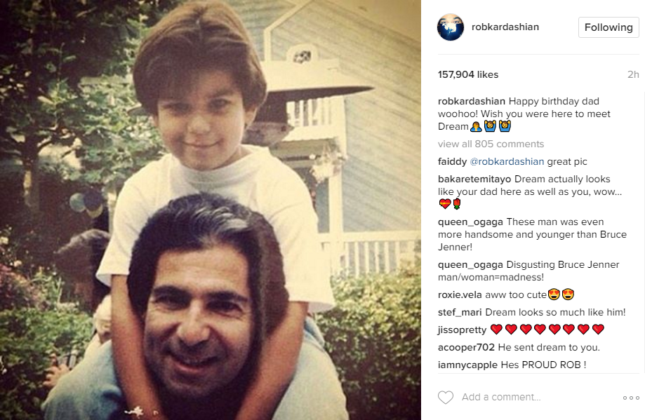 Instagram/Rob Kardashian