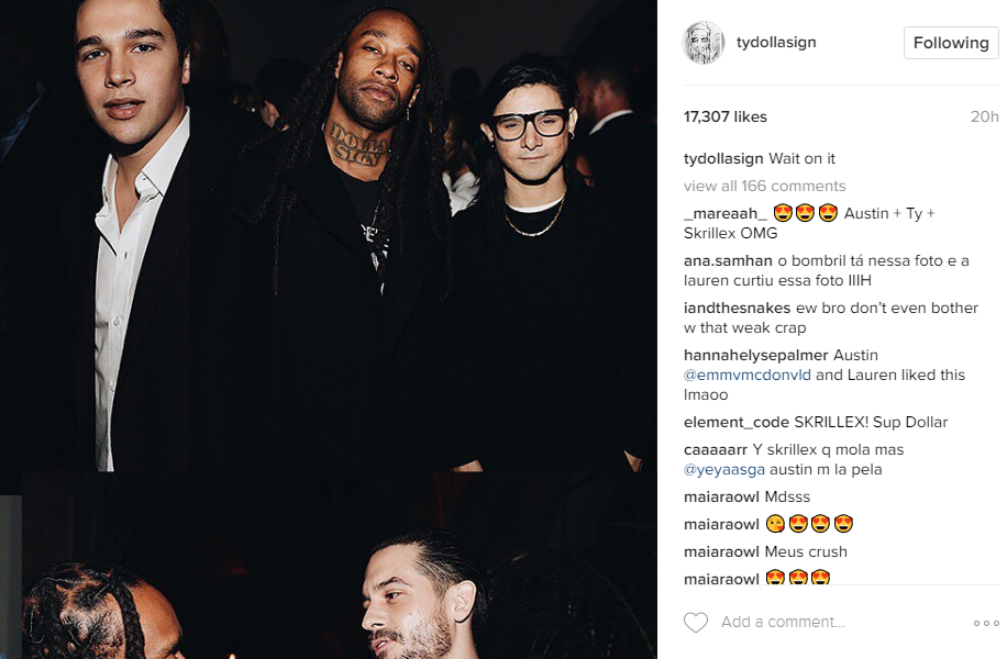 Ty Dolla Sign, Skrillex, Austin Mahone