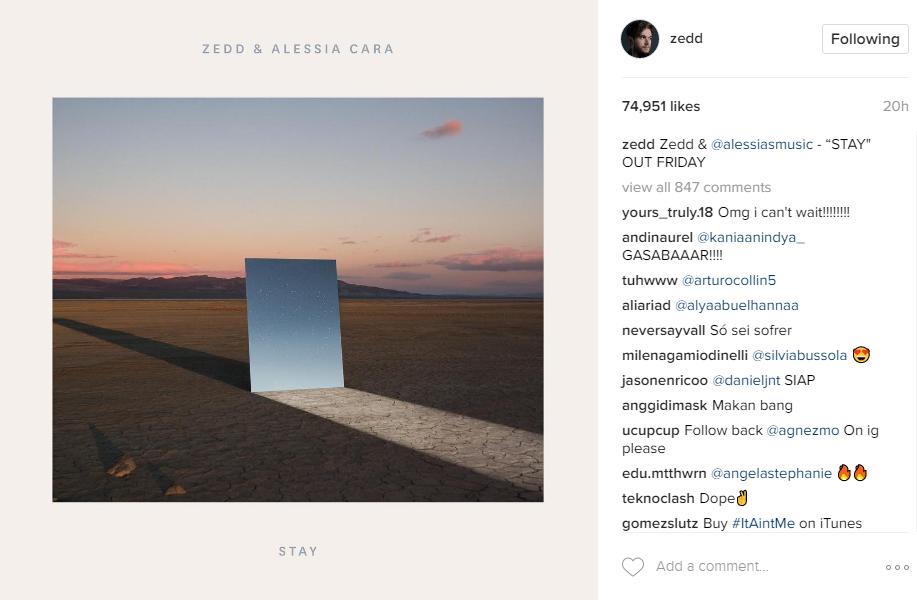Instagram/Zedd