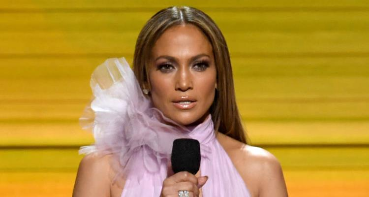 Jennifer Lopez at the 59th Grammy Awards