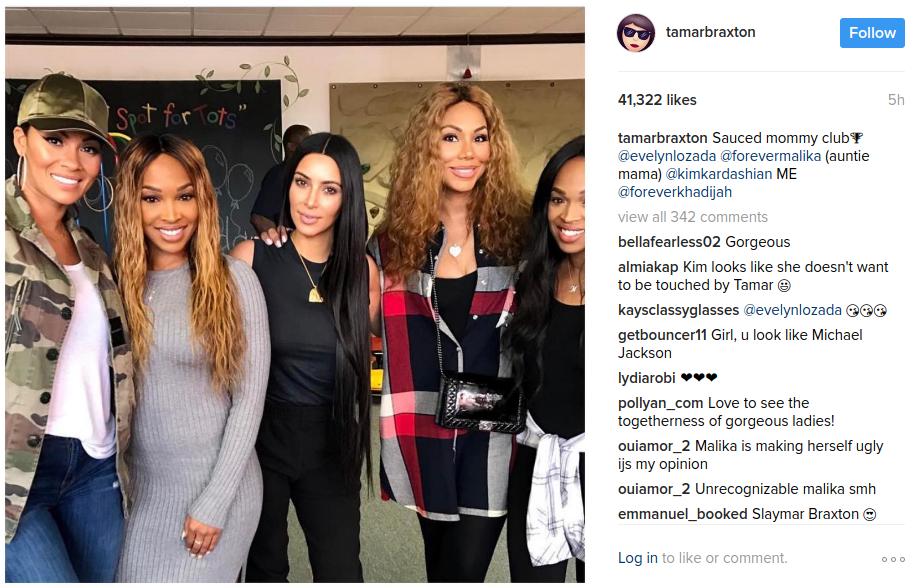 Kim Kardashian and Her Mommy Club