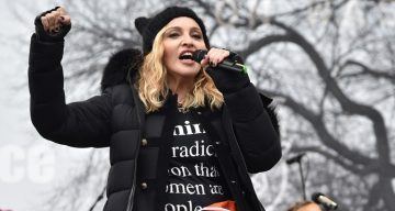 Madonna at the Women's March 2017