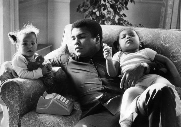 Muhammad Ali & his kids, 1978