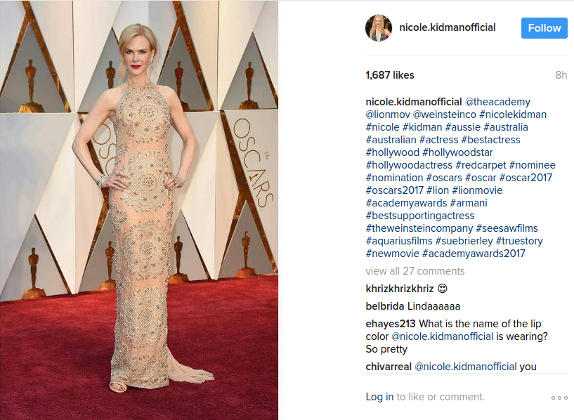 Nicole Kidman at Oscars 2017