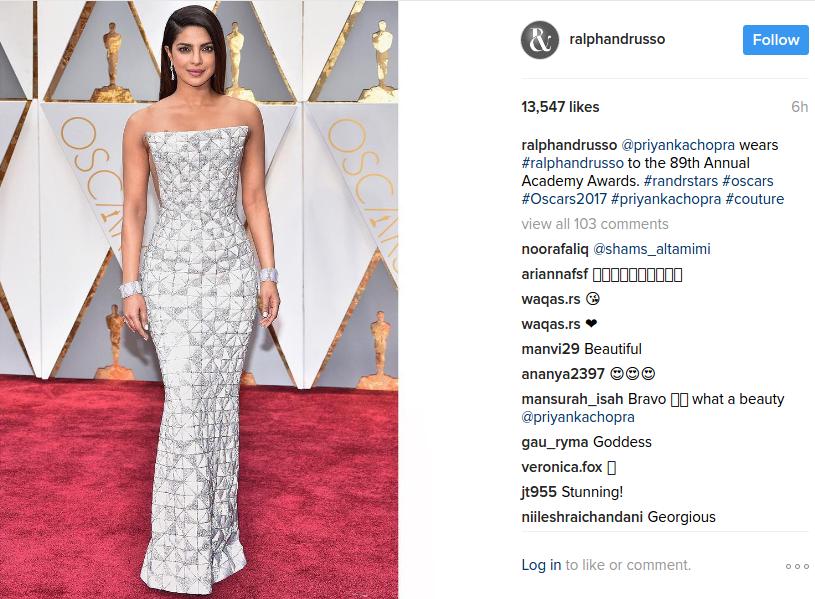 Priyanka Chopra Oscars 2017
